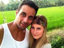 Spaziergang durch die Reisfelder