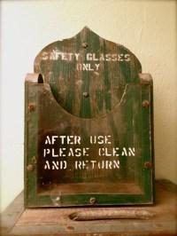 Small Vintage Factory Storage Bin