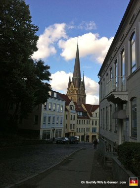 We spent a few hours in Flensburg. Here's the requisite church shot.
