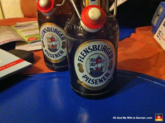 Here are our Titty Pils! Just a shot or two of vodka poured into a Flensburger pils and you've got yourself an evening!