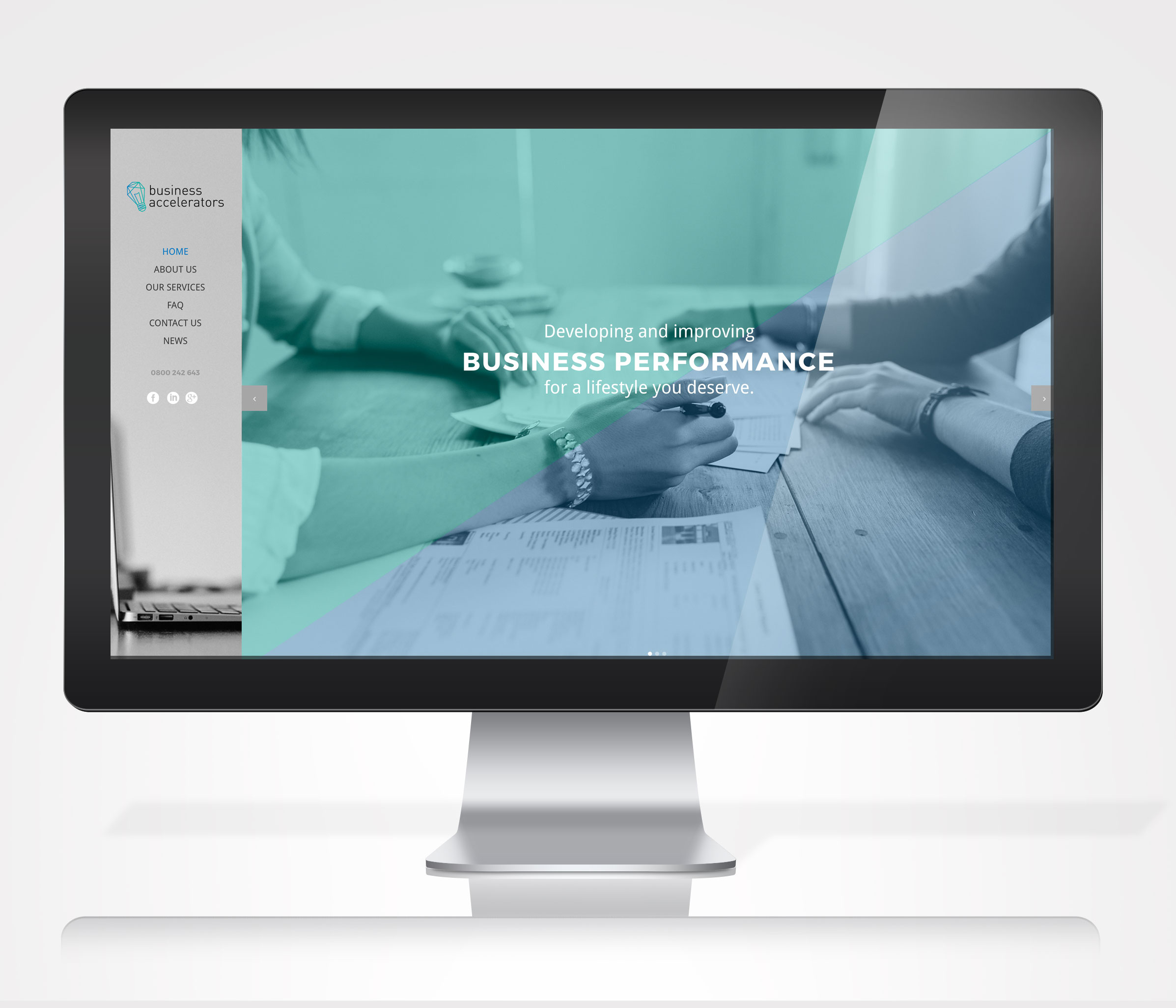 Business Accelerators website design by Oh Gosh