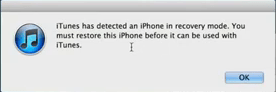 iPhone in Recovery Mode