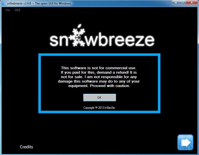 Sn0wbreeze v2.9.8 to create custom baseband