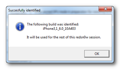 Redsn0w: The following Build was identified