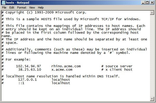 iTunes Error 40: Edit Host File