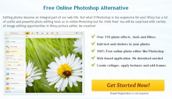 iPiccy - Free Online Photoshop Alternative