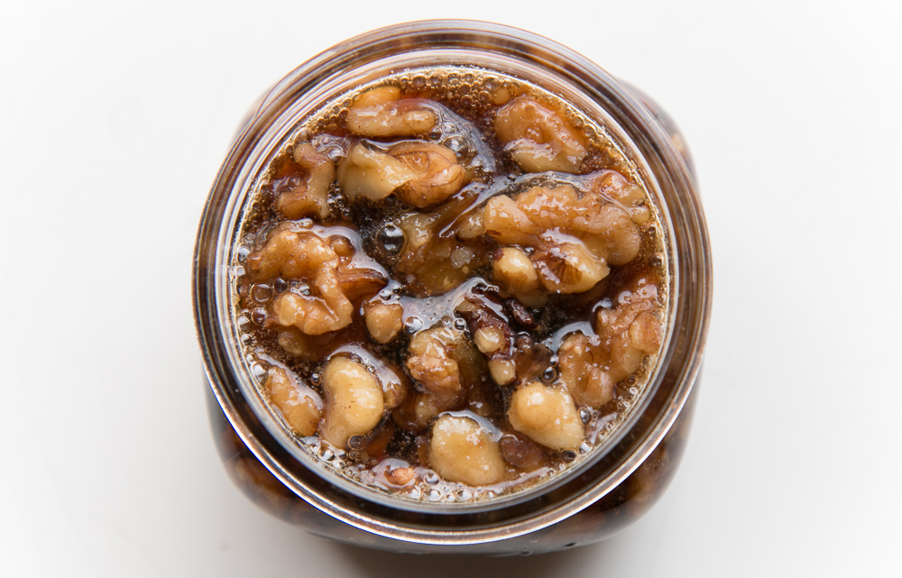 Maple Syrup with Walnuts