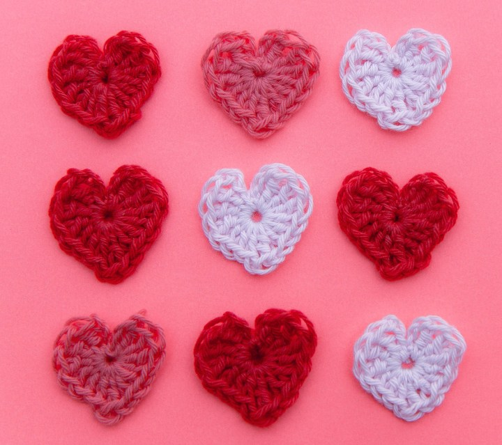crochet hearts for valentines day