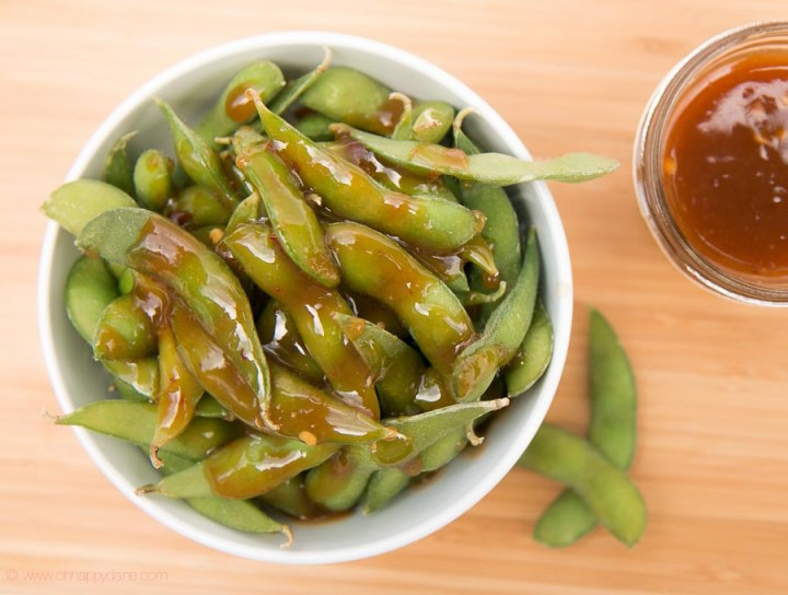 Edamame Soybeans with Sweet and Spicy Dipping Sauce