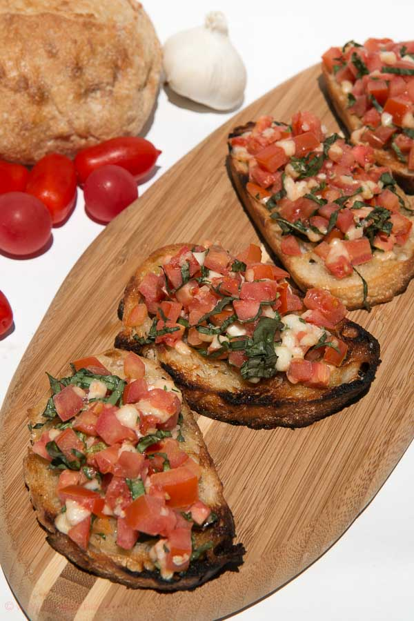 entry is served bruschetta is ready