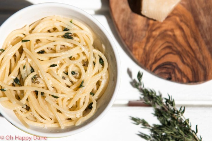 lemon and thyme spagetti