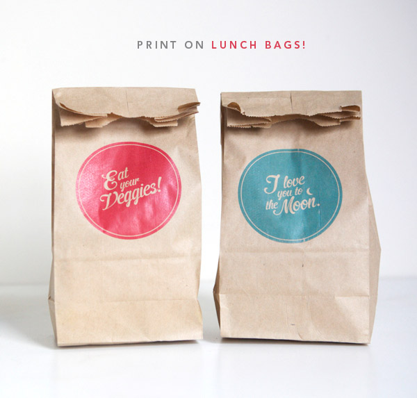 How to Print on Paper Bags | Oh Happy Day