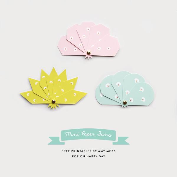 Mini Paper Fan Printables