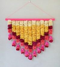 Crepe Paper Petals Wall Hanging