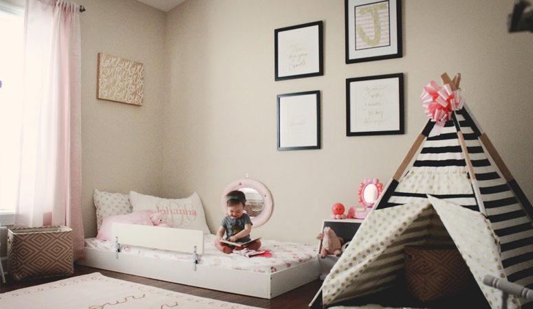 Johanna\'s Montessori [Big Girl] Bedroom And Floor Bed - Oh Happy Play