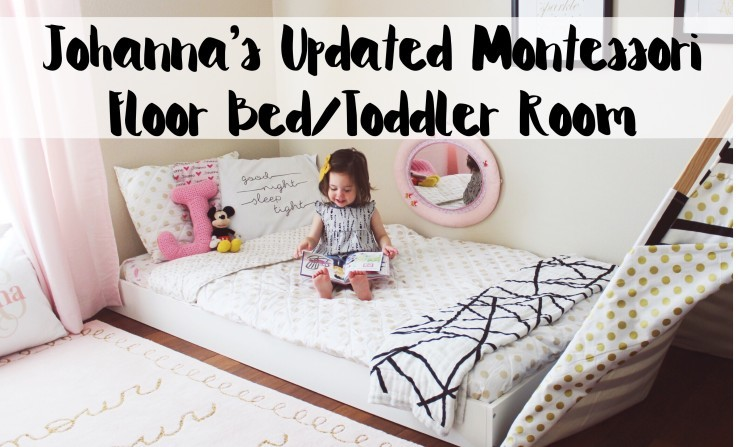 montessori floor bed toddler room