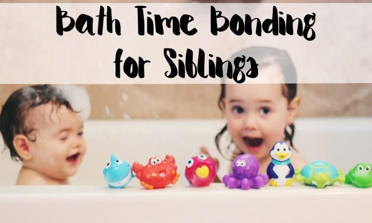 Bath Time Bonding for Siblings