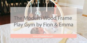 The Modern Wood Frame Play Gym by Finn & Emma