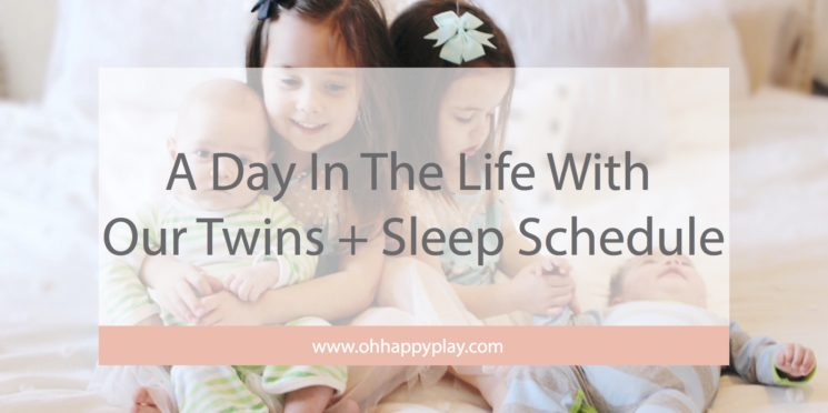 A Day In The Life With Our Twins + Sleep Schedule