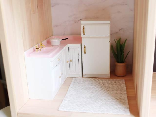 Custom Dollhouse Kitchen