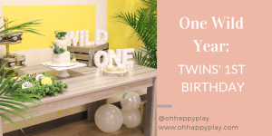 wild one party, where the wild things are, one wild year, twin first birthday party, party for twins, wild things party, wild party, party for one year old, one year old birthday party, oh happy play
