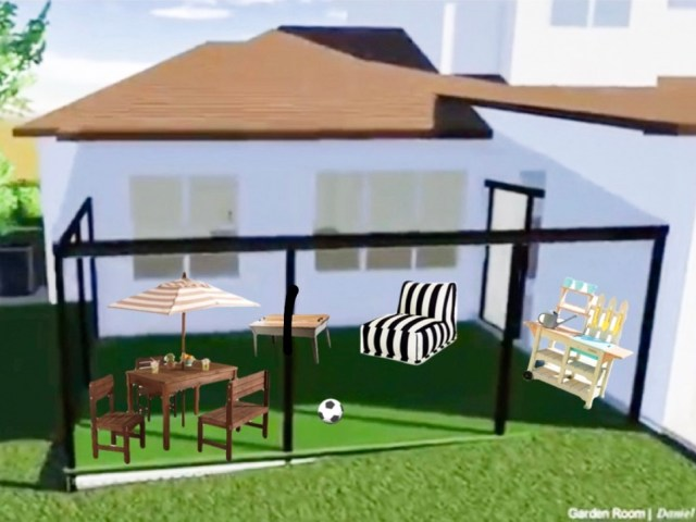 outdoor kid play area, outdoor kid zone, shaded kids play area, custom home kids play area, outdoor kid activities