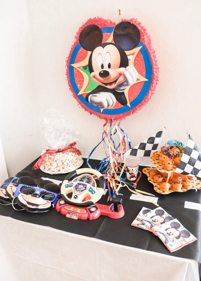 mickey and the roadster racers party, Mickey Mouse party, kids birthday party, Disney birthday party, Disney partner