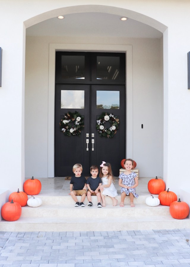 front porch pumpkin patch, modern farmhouse fall decor, outdoor fall decor, harvest decor, cheap fall decor, outdoor fall decor ideas, fall yard decor, outdoor fall decor, harvest decor, hobby lobby pumpkins