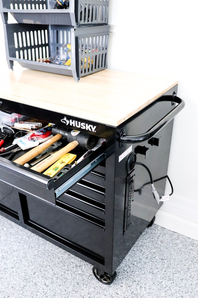 husky tool chest, mobile tool chest, gift for husband