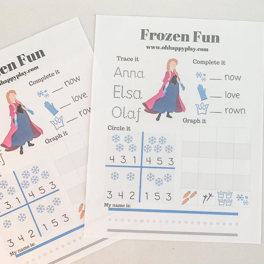 Free Frozen Printable Worksheet