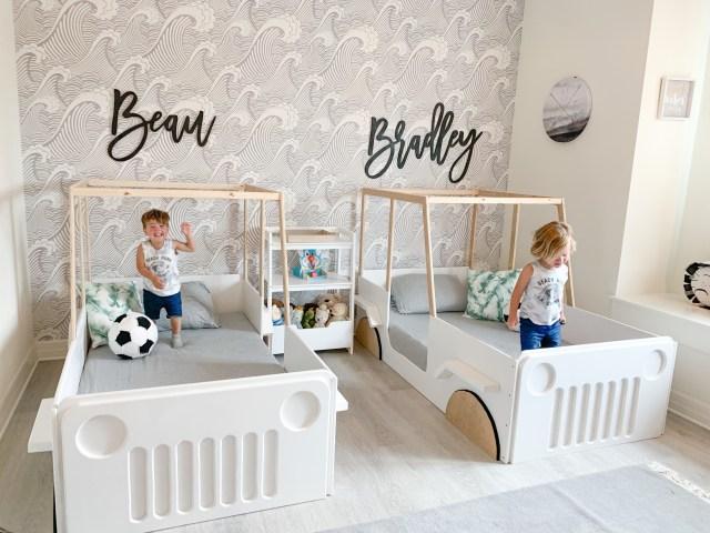 modern little boy room