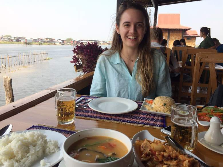 lunch on inle lake