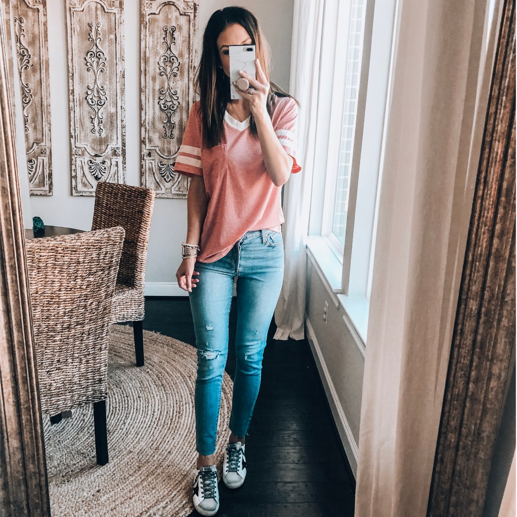 Levi's Skinny Jeans and casual top
