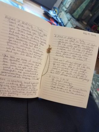 Journaling A Place of Healing