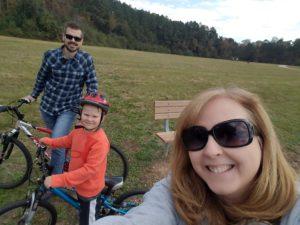 A bike ride around the lake