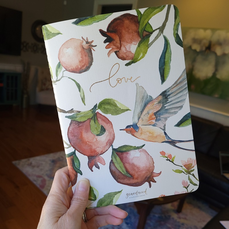 Gracelaced journal with love on the cover