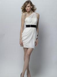 One Shoulder Short Black Bridesmaid Dresses - Wedding ...