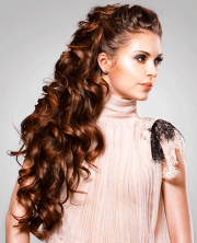 gorgeous and glamorous long curly