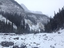 The valley! Apparently venturing further leads to hoodoos and a cave, but snow was falling, and I needed to look for the
