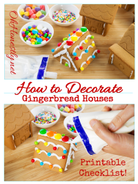 How to Decorate a Gingerbread House: Candy Ideas Printable