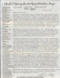 1974 An Lac newsletter