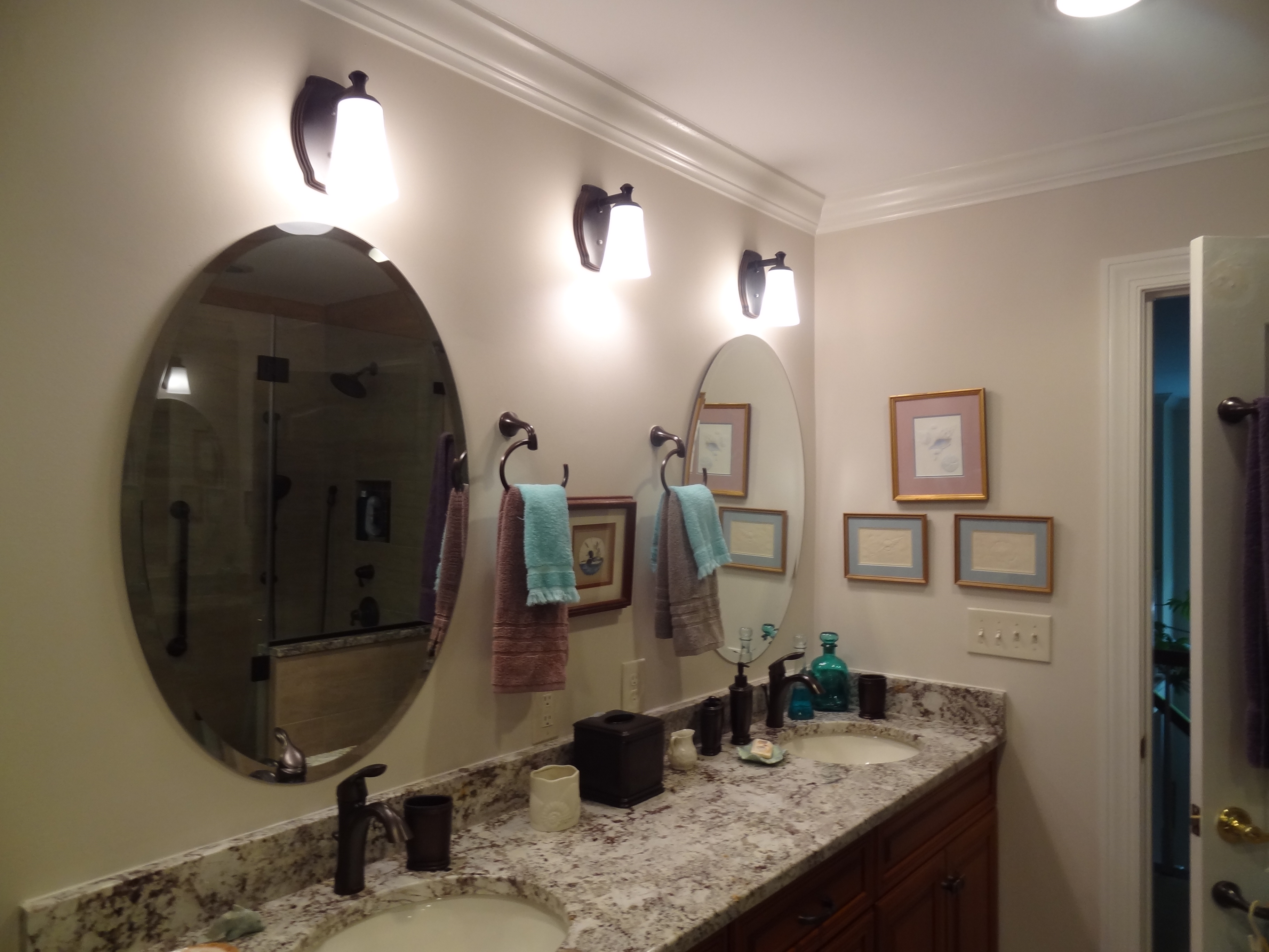 OHI Design Double Bathroom Vanity Remodel