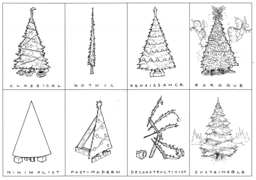 architecture history of the christmas tree