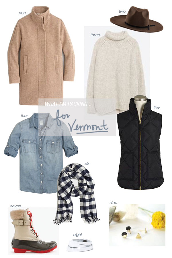 What I'm Packing for Thanksgiving in Vermont // Oh, I Design Blog