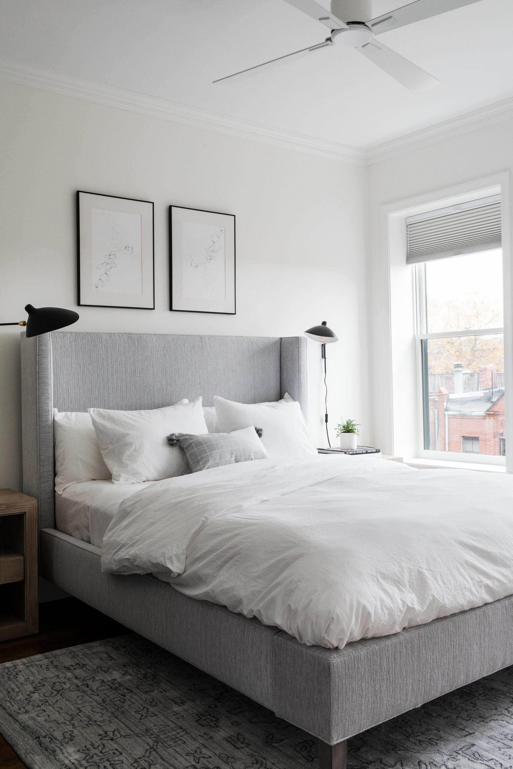 Modern layered master bedroom