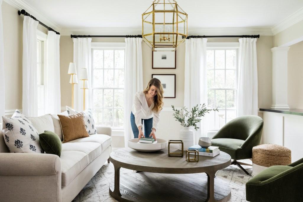 Living Room Design, Layered Design, Interior Design
