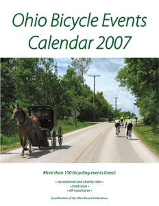2007 Ohio Bicycle Events Calendar
