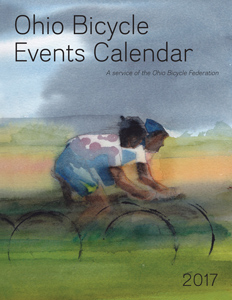 Image: Cover of the 2017 Ohio Bicycle Events Calendar