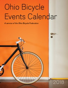Image: Cover of the 2018 Ohio Bicycle Events Calendar