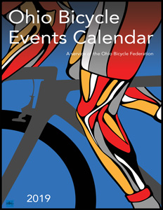 Image: Cover of the 2019 Ohio Bicycle Events Calendar
